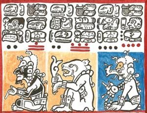 Detail des Dresdener Maya Codex, gezeichnet von Lacambalam