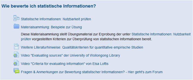 3.Wie bewerte ich statistische Informationen?