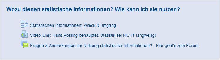 1.Wozu dienen statistische Informationen und wie kann ich diese nutzen?
