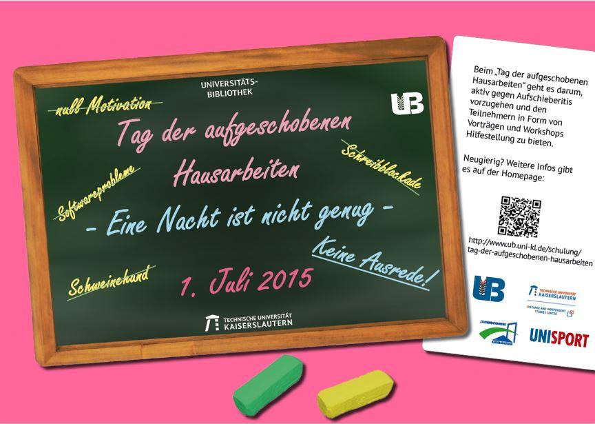 Plakat zur Bewerbung der Veranstaltung auf dem Campus